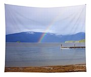 Rainbow Over Priest Lake Tapestry