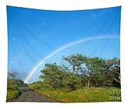 Rainbow Over Treetops Tapestry