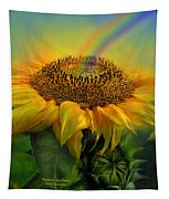 Rainbow Sunflower Tapestry