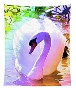 Rainbow Swan Tapestry