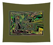 Rainbow World On A Clear Day Tapestry