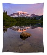 Rainier Dawn Breaking Tapestry