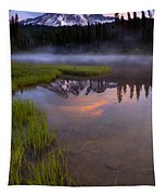 Rainier Sunrise Cap Tapestry