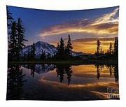 Rainier Sunrise Reflection #2 Tapestry