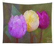 Rainy Day Tulips Tapestry