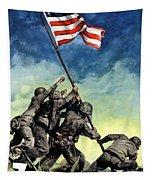 Raising The Flag On Iwo Jima Tapestry