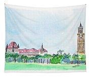 Rajabai Clock Tower And Bombay High Court Tapestry