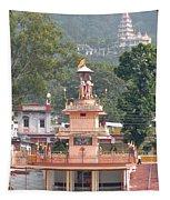Ram Statue - Rishikesh India Tapestry