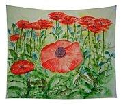 Ramonas Poppies Tapestry