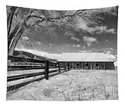 Ranch In Winter Tapestry