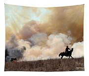 Rancher Starting A Controlled Burn Tapestry