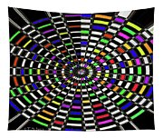 Random Color Oval Abstract Tapestry