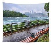 Rapids In The Rain Tapestry