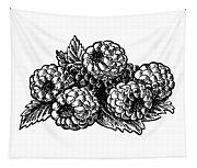 Raspberries Image Tapestry