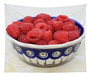 Raspberries In Polish Pottery Bowl  Tapestry