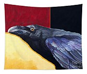 Raven Of The Tomorrow Wings Tapestry