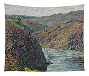 Ravines Of The Creuse At The End Of The Day Tapestry