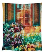 Ready To Water The Garden Oil Painting Tapestry