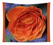 Really Orange Rose Tapestry