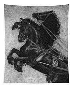 Rearing Horses Tapestry by Eric Fan