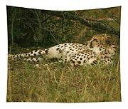 Reclining Cheetah Profile Tapestry