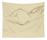 Reclining Nude Facing Right Tapestry