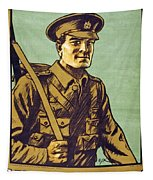 Recruitment Poster Follow Me Your Country Needs You Tapestry
