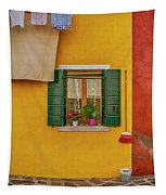 Rectangle Iterations Broom And Laundry Burano_dsc5134_03042017 Tapestry