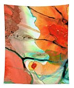 Red Abstract Art - Decadence - Sharon Cummings Tapestry