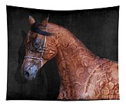 Red Ancient Horse No 01 Tapestry