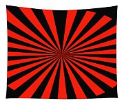 Red And Black Abstract #3 Tapestry