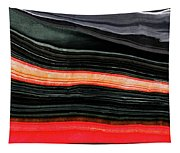 Red And Black Art - Fire Lines - Sharon Cummings Tapestry