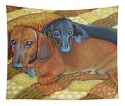 Red And Black Dachshunds - Best Buds Tapestry