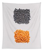 Red And Black Lentils Tapestry