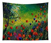 Red And Blue Poppies 67 1524 Tapestry