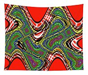 Red And Green Thing Tapestry