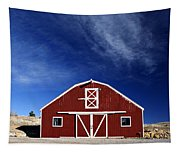 Red And White Barn Tapestry
