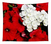 Red And White Tapestry