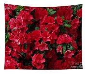 Red Azalea Blooms Tapestry