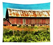Red Barn No.1 Tapestry