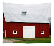 Red Barn- Photography By Linda Woods Tapestry