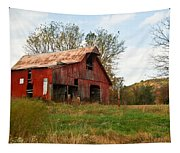 Red Barn Putnum County Tapestry