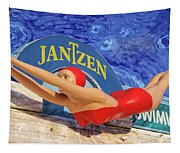 Red Bathing Suit Tapestry