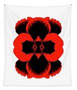 Red Black Botanical Summer Tapestry