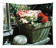 Red Blooms Tapestry