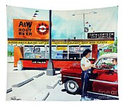 Red Car At The A And W Tapestry