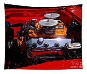 Red Car Engine  Tapestry