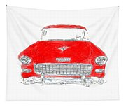 Red Chevy T-shirt Tapestry