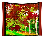 Red Chinese Maple Leaf's Tapestry
