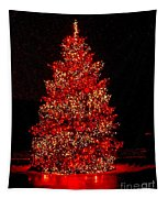 Red Christmas Tree Tapestry